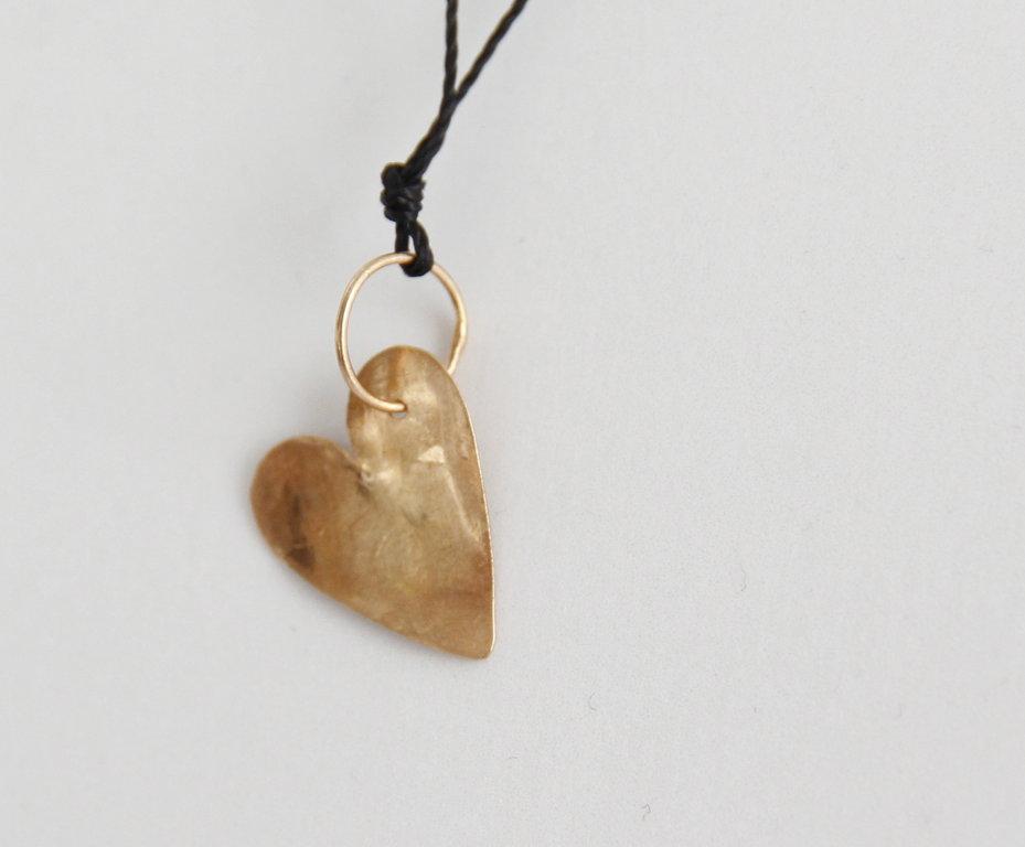 Herz aus Rosagold 18kt Gross Verschluss Silbervergoldet