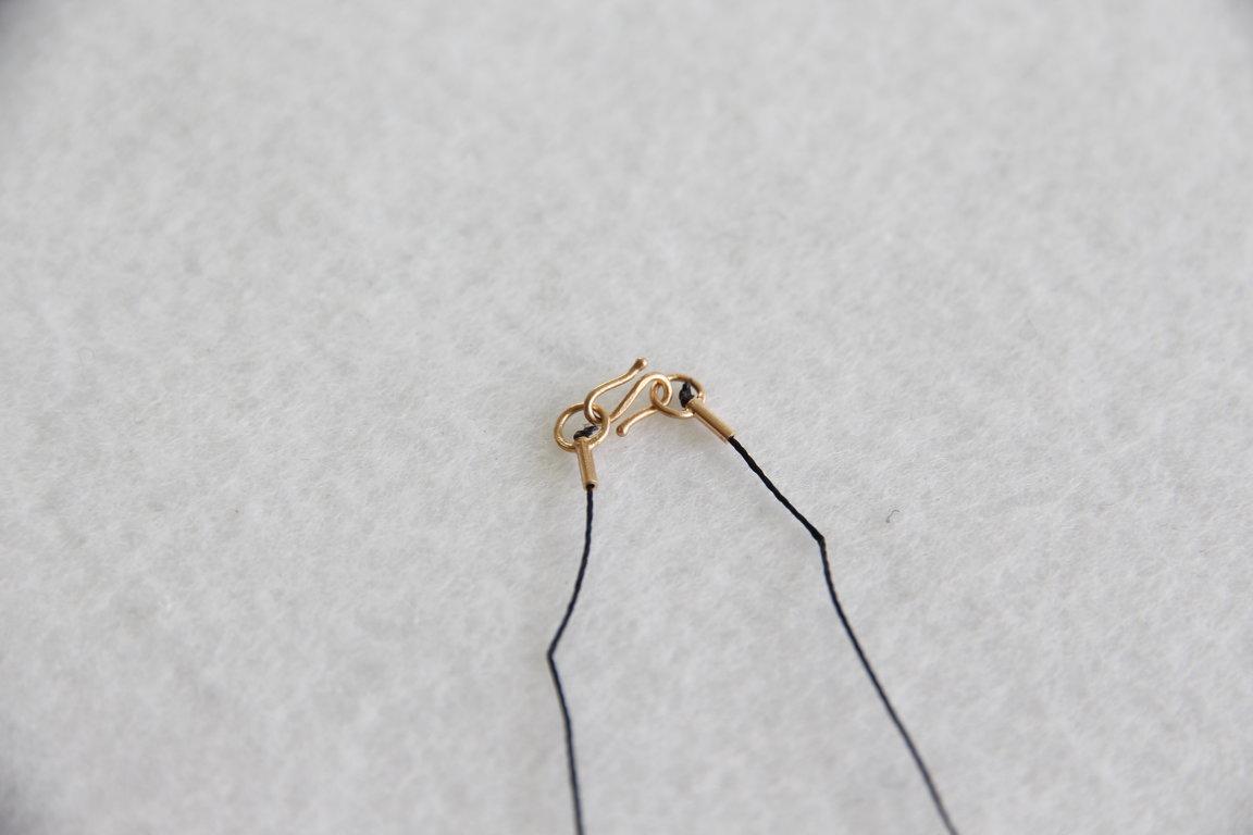 Herz aus Gelbgold 18kt Klein mit Verschluss aus Silbervergoldet