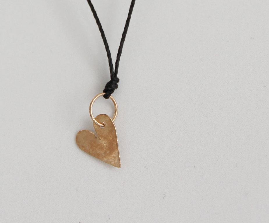Herz aus Rosagold 18kt Klein mit Verschluss Silbervergoldet