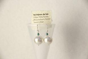 Ohrringe mit Muschelkern Perlen